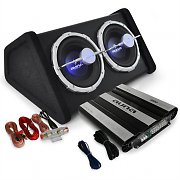 Auna Black Line 160 Set Car HiFi 0.1 4000W doppio sub