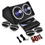 "Set Car HiFi 4.1 Pack sono voiture ""Black Line 500"" 5000W"