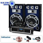 "Set DJ PA Blue Star Series ""Bassmix"" 1600 Watts"