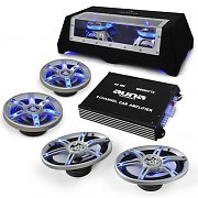 "Set car audio ""BeatPilot FX-412"" altoparlanti amplificatore"