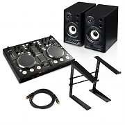 "Digital DJ Set ""Starter Two"" ControllerDJ Enceintes Pied"
