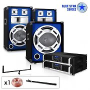 "Set de PA Blue Star Series ""Beastboost"" 1200W Sono DJ"