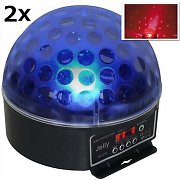 Beamz Magic Jelly DJ-Ball 2er Set LED-Lichteffekt RGB DMX