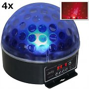 Beamz Magic Jelly DJ-Ball Set de 4 boules disco LED RGB DMX