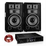 "Set PA Saphir Series ""Warm Up Party"" 10PLUS par colunas 15"" e amplificador 600W"