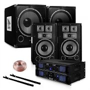 "Set PA 2.2 Saphir Series ""Clubnight"" 10PLUS 2 HP 2 amplis, 2 subwoofers"