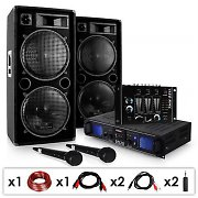 "DJ SET ""DJ-20.1"" Pack sono pro ampli PA + set enceintes + table de mixage 2000w"