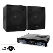 "Set DJ Malone 2.0 SUB ""Party"" ampli 3000W 2 x Subwoofer 46cm"