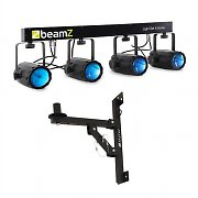 Beamz 4-Some Barra de focos LED para pared de 4 piezas