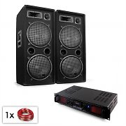 "PA Set ""Malone Bluetooth MP3"" par altavoz 2 x 12"" y amplificador de 1500 W"