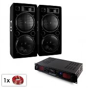 "DJ PA Set ""Malone SPL Bluetooth MP3"" enceintes 2x15"" ampli 2000W"