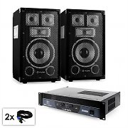 "PA Set Saphir Series ""Warm Up Party TX8""  Paar 20cm Boxen & Verstärker 800W"