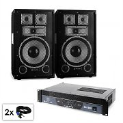 "Conjunto PA Saphir serie ""Warm Up Party TX10"" 2 altavoces de 25cm y amplificador 1200W"