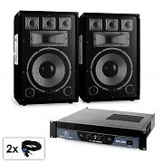 "PA Set Saphir Series ""Warm Up Party""12plusII  Paar 12"" Boxen & Verstärker 1500W"