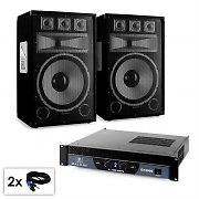 "PA Set Saphir Series ""Warm Up Party TX15"" Paar 38cm Boxen & Verstärker 2000W"