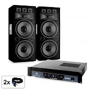 "PA Set Saphir Series ""Warm Up Party TX215""  Paar 2x38cm Boxen & Verstärker 3000W"