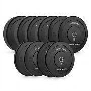Capital Sports Elongate Set de 5 pares de bumper plates de borracha