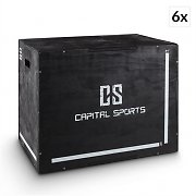 "Capital Sports Shineater BK Set Plyo-Box Jump Box 3 hauteurs 20"" 24"" 30"" - noir"
