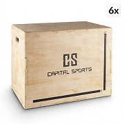 "Capital Sports Shineater BK Set Plyo-Box Jump Box 3 hauteurs 20"" 24"" 30"" bois"