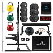 Capital Sports Garage Set Conjunto de Equipamento de Musculação