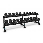 Capital Sports Dumbbell Rack Set Conjunto 20 Halteres 10 x Par de Cada Peso