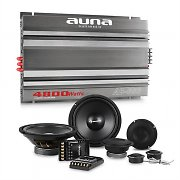 auna CS-Comp-8 Set Hi-Fi Car Amplificatore 6 Canali Altoparlanti