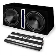 auna CS-Comp-10 Set Hifi sono voiture amplificateur 6 canaux & subwoofer actif