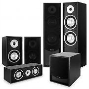 auna Black-Line 5.1 Système audio HiFi home cinema 5 enceintes & subwoofer 10""