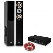 "auna Set Hifi ""Brilliant Black"" Enceintes colonnes  + amplificateur Bluetooth"