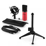 auna MIC-900RD USB kit micro V1 | micro à condensateur rouge | trépied de table