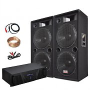 Bassking - Set PA con 2 altavoces y 1 amplificador