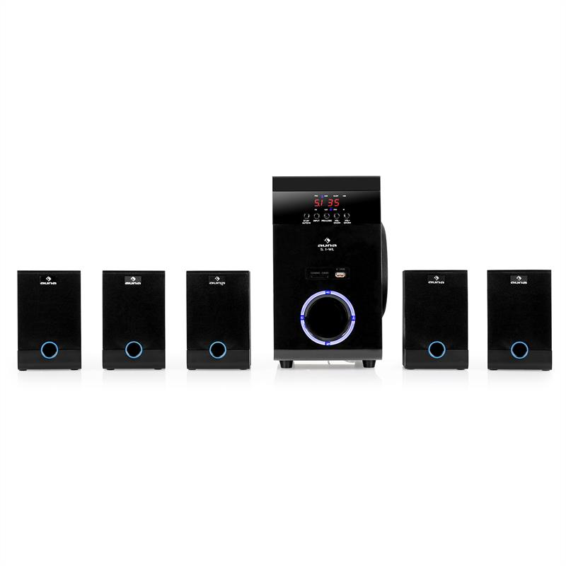 Auna Sistema surround home cinema 5.1 wireless mp3 usb sd: Clicca sull´immagine per ingrandirla!