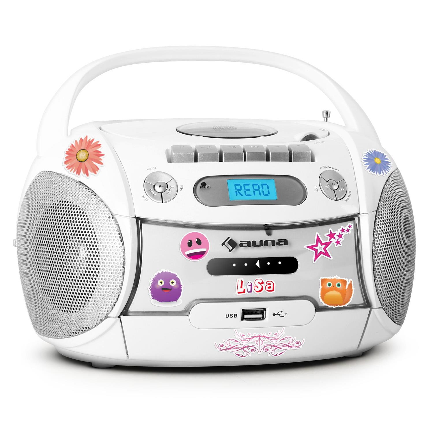KASSETTEN MP3 CD PLAYER USB KINDER RADIO BOOMBOX