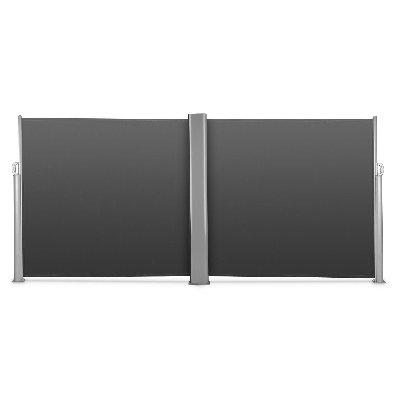Markise Sichtschutz Windschutz Alu Ausziehbar Seitenrollo Doppel