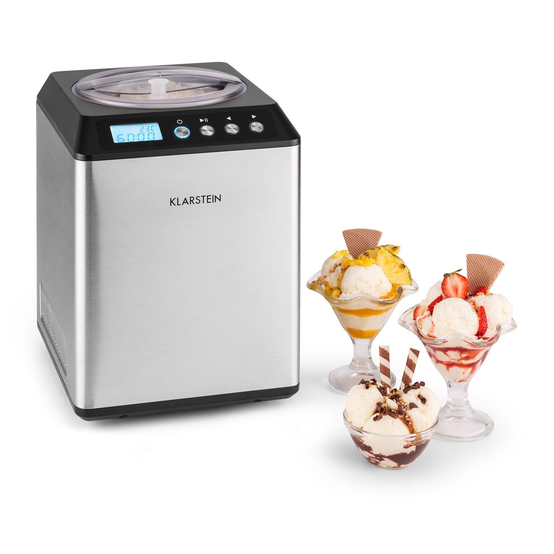 Gelatiera Autorefrigerante Macchina Gelato Compressione Professionale 2,5L Cream